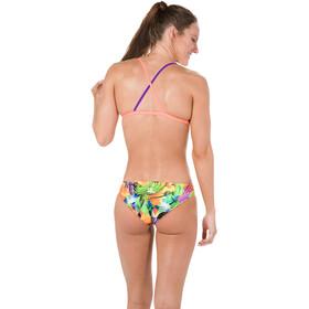 speedo Funkburst 2 Piece Crossback Bikini Damen fluoorange/violet/fakegreen